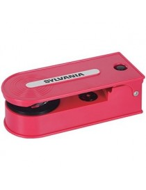 Sylvania Turntable Record Player with USB Encoding, Red