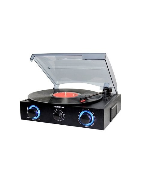 TechPlay TCP2 BK, 3 Speed (33, 45, 78 RPM)turntable with pitch control - Envío Gratuito